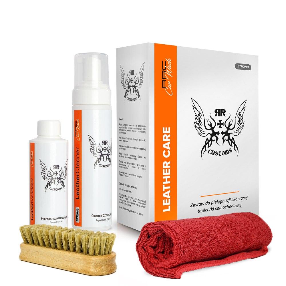 Zestaw RR CUSTOMS CarWash LEATHER CLEANER SOFT (Czyszczenie skóry) - GRUBYGARAGE - Sklep Tuningowy